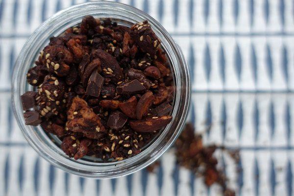 Granola med dobbel sjokolade