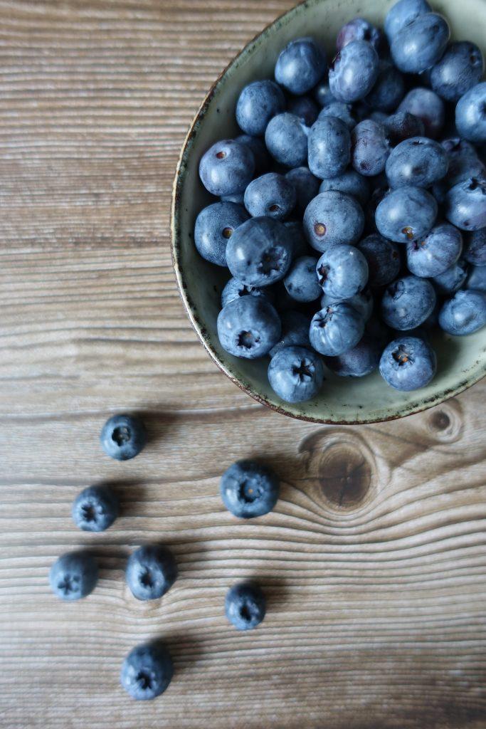 Smoothie med blåbær og peanøttsmør